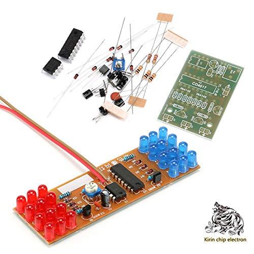 5PCS/LOT NE555-CD4017 Red and Blue Flash Light Kit Electroni