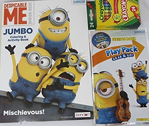 Despicable Me Minions Variety Farbeing Book and Play Pack 3 piece Set by Despicable Me Minions
