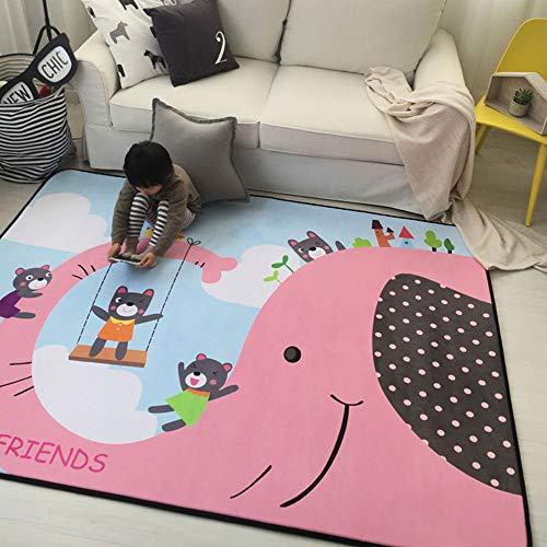 Shuhong babykruipmat speeltapijt kinderen slaapkamer decor Living kamertapijt schattige cartoon dieren oefening yogamat