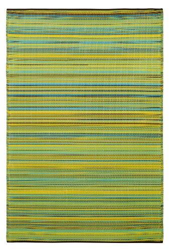 Fab Habitat Cancún - Alfombra, 150 x 240 cm, Color limón y Verde Manzana
