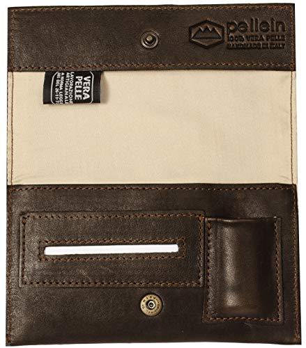 Pellein - Portatabacco in vera pelle Cuttlefishes - Astuccio porta tabacco, porta filtri, porta cartine e porta accendino. Handmade in Italy