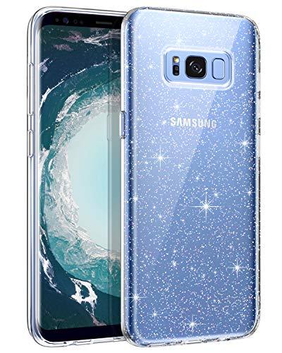 Samsung Galaxy S8 Hülle Handyhülle Glitzer, BENTOBEN Samsung Galaxy S8 Case Slim Anti Gelb Bumper Cover ultra dünn Hülle für Samsung Galaxy S8 Bling Transparent