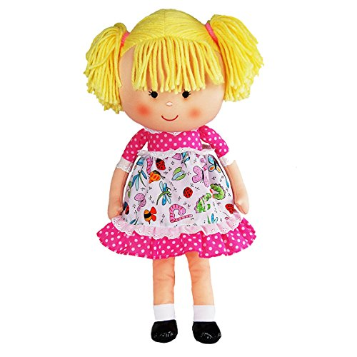 "Anico Well Made Play Doll for Children Libby Doll, 18"" Tall, Pink"