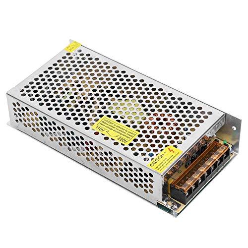 Adaptador de variador de Fuente de alimentación conmutada de 12 V DC para automatización Industrial, Equipo LED Fuente de alimentación conmutada de Transformador reulado para CCTV(S-180-12)