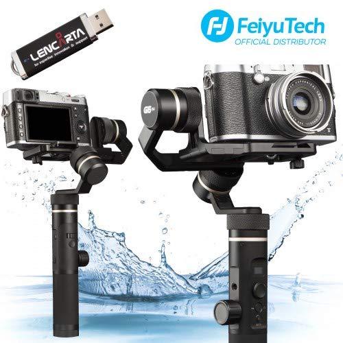 FeiyuTech G6 Plus 3-Achsen-Handheld Spritzwassergeschützter kardanischer Stabilisator Spritzwassergeschützter und wasserdichter Stabilisator Bluetooth WIFI-LCD-Technologie Kompatibel mit Smartphones