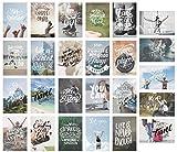 Edition Seidel Set 25 Postkarten mit Sprüchen - Karten mit Spruch - Geschenkidee - Dekoidee - Liebe, Freundschaft, Leben, Motivation, lustig - Geburtstagskarten (20575)