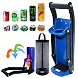 Can Crusher, Can Crusher Wall Mounted 16 oz & Bottle Opener, Eco-Friendly Aluminum Can Crusher, Heavy Duty Can Crusher Soda Beer Smasher Recycling Tool (16oz, Blue)