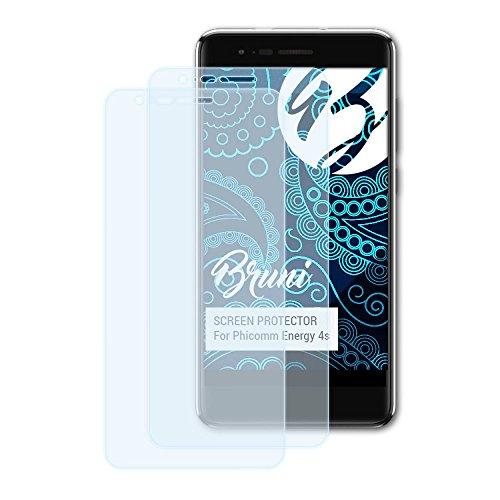 Bruni Schutzfolie kompatibel mit Phicomm Energy 4s Folie, glasklare Bildschirmschutzfolie (2X)