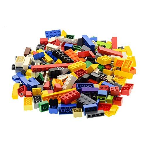 200 Lego System Basic Bau Steine Teile Kiloware bunt gemischt z.B. rot gelb blau grün weiß orange schwarz grau