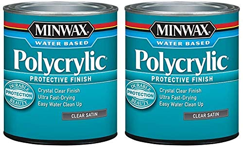 Minwax 233334444 Minwaxc Polycrylic Water Based Protective Finishes, 1/2 Pint, Satin 2 Pack