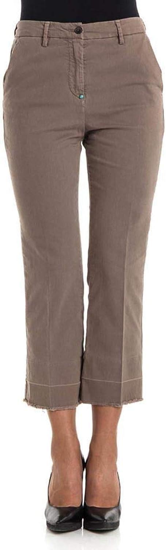 WHITE SAND Women's 17WSD020845 Beige Cotton Pants
