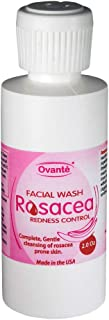 Ovante Skin Care Rosacea Redness Control Natural Face Cleanser Wash for Dry Sensitive Skin, Gentle Therapeutic Cleansing T...