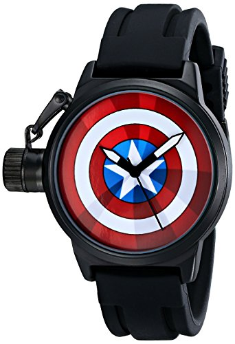 Marvel W001753 The Avengers Capitan America, orologio analogico al quarzo nero