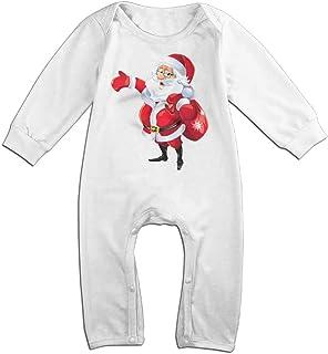 MUAIKEJI Santa Claus Christmas Long Sleeve Baby Romper Bodysuit Outfits Clothes