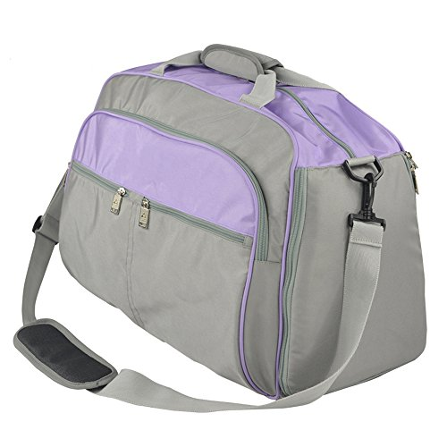 MIMI KING Angeln Stuhl Gepäcktasche mit Klappstuhl Casual Große Kapazität Kurze Reise Umhängetasche Männer und Frauen Tragbare Handtasche 55 * 23 * 32 cm,Purple