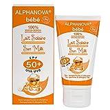 Alphanova Sun Bio, Baby Sun Milk - SPF 50+, 4.4 oz.