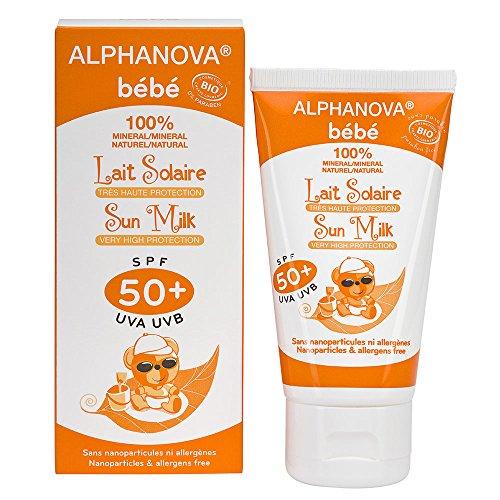 Alphanova Sun Baby SPF50 Sun Zonnebrand Milk zonder parfum