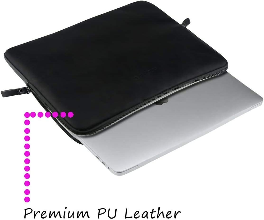 Noir MOSISO Housse Compatible avec 2019 MacBook Pro 16 Pouces avec Touch ID A2141//15-15,6 Pouces MacBook Pro Retina 2012-2015//Surface Laptop Laptop Sleeve Cuir PU Super Rembourr/é Hydrofuge Sac