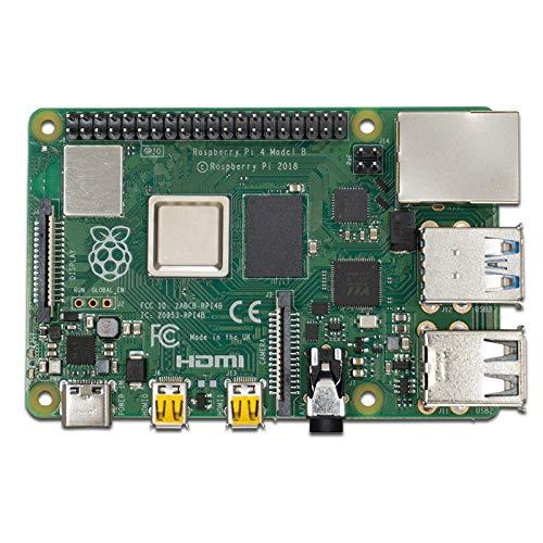 Raspberry Pi 4 Modell B; 4GB, ARM-Cortex-A72 4 x, 1,50GHz, 4GB RAM, WLAN-ac, Bluetooth 5, LAN, 4 x USB, 2 x Micro-HDMI & Amazon Basics Ethernetkabel Cat6, knickgeschützt, 305 cm, 5 Stück