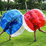 2 Pack Bumper Bubble Soccer Balls for Kids/Adults, Body Zorb Ball Dia 5FT (Blue & Red 1.5m)