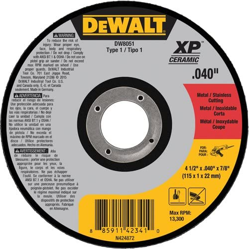 DEWALT DW8051 Type 1 Metal Stainless 4-1 Wheel Steel Cutting Direct stock discount New products world's highest quality popular 2