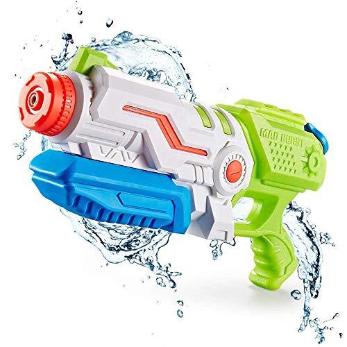 DYB Größte Wasserpistole Wasserpistole - Pump Action Bis zu 10 m entfernt Wasserpistole Spritzpistolen 1L Outdoor Beach Garden Wasserschlacht für Kinder Erwachsene Blau