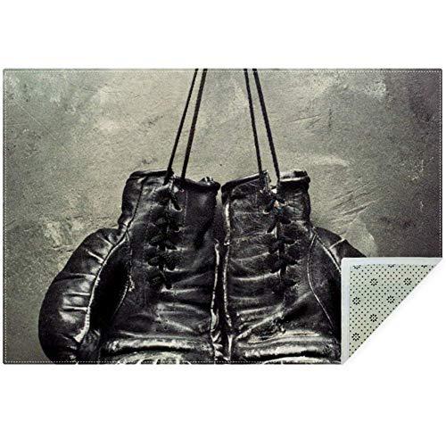 Lorvies alte Boxhandschuhe zum Aufhängen auf Nagel auf Textur, Teppich, rutschfest, Fußmatte für Wohnzimmer, Schlafzimmer, 149,9 x 99,1 cm, Polyester, multi, 160x120cm/63x47in