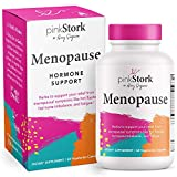 Pink Stork Menopause Supplement: Menopause Relief, Ashwagandha to Support Estrogen Levels, Black Cohosh for Hot Flashes, Supports Weight Loss, Hormonal Balance for Women, Women-Owned, 60 Capsules