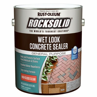 Rustoleum 317927 1 Gallon Rocksolid Wet Look Concrete Sealer