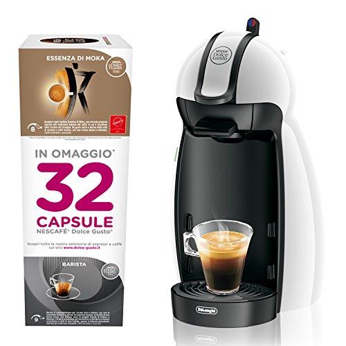 macchina caffe piccola Dolce Gusto EDG100.W Nescafe Piccolo Macchina per Caffè Espresso e Altre Bevande