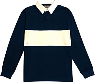 Kings Of NY Classic Mens Long Sleeve Sports Polo Rugby Shirt