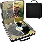 Vinyl Record - Caja de almacenamiento para discos de vinilo (18 unidades, vinilo)