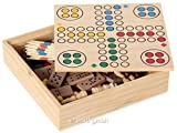 Bartl 111459 - Spielesammlung klein mit 6 Spielen - Schach, Dame, Ludo, Domino, Mikado und Kartenspiele.