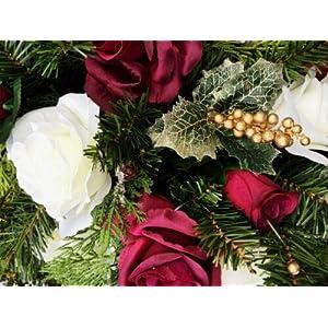 30″ Christmas Centerpiece Swag Silk Wedding Flowers Arch Chuppah Table Runner