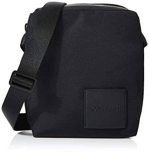 Calvin Klein Herren Split Mini Reporter Laptop Tasche Schwarz (Black)