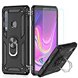 LeYi Coque Galaxy A9 2018 avec Anneau Support, Double Couche Renforcée Défense Bumper TPU Silicone...