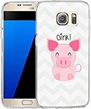 LAACO Samsung S7 Case Scratch Resistant TPU Gel Rubber Soft Skin Silicone Protective Case Cover for Samsung Galaxy S7 Cartoon pink pig