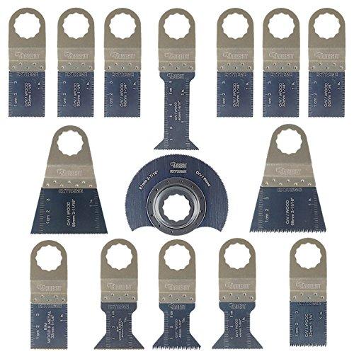 15 x SabreCut SCK15A Mix Klingen für Fein Supercut und Festool VECTURO (Nicht-StarLock) Multitool Multi Tool Multifunktionswerkzeug Oszillierwerkzeug Zubehör