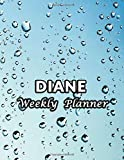 Diane Weekly Planner: Name or Family Name 52 Weeks No Dates Unlined Vertical Columns Notebook with To-Do List and Notes Daily Organizer Gifts For Men Women Teens Kids Nice Marble Cover Print