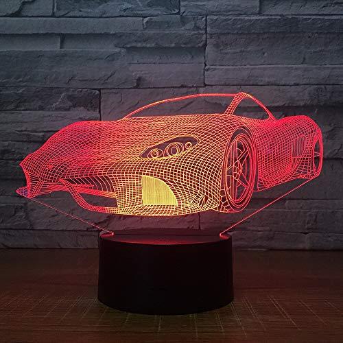 Multicolor tridimensional deportes 3D lámpara de mesa regalo para niños coche LED control de luz luz nocturna creativa 3D lámpara de mesa | luz de noche acrílica de potencia
