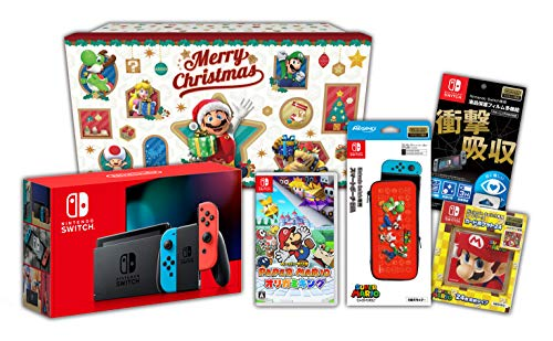 【Amazon.co.jp限定】<ニンテンドースイッチ ホリデーギフトセット>ペーパーマリオ オリガミキング+Nintendo Switch 本体 ネオンブルー/ネオンレッド+アクセサリーセット+おまけ付き