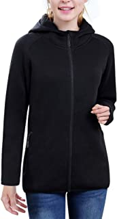 beroy Women Jacket with Hoodies,Full Zip Fleece Sweater