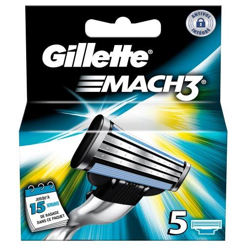 Ancienne version Gillette MACH3 - Pack de 5 recharges