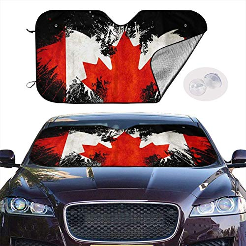 JKKSA Parasol para Parabrisa,parasoles de Coche Auto Maryland State Flag Portable Universal Sunshade Keeps Vehicle Cooler for Car,SUV,Trucks,Minivan Automotive and Most Vehicle Sunshade (51 X 27 in)