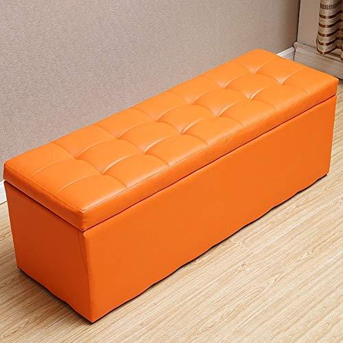 WYJW voetenbank rechthoek eenvoudig te reinigen kleedcabine schoenenbank foyer sofa kruk woonkamer slaapkamer kaptafel winkelcentrum winkel opslag kruk (kleur: oranje, maat: 60 * 40