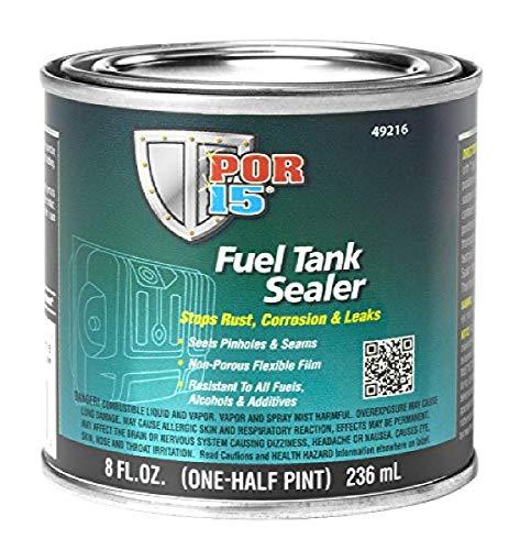 POR-15 Fuel Tank Sealer - 8 oz - Stops Rust, Corrosion, & Leaks | Seals Pinholes & Seams | Non-porous, Flexible Film | Resistant To All Fuels, Alcohols, & Additives