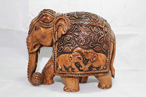 Rajasthan Gems India Handicraft Balle de jeu en résine Motif éléphant
