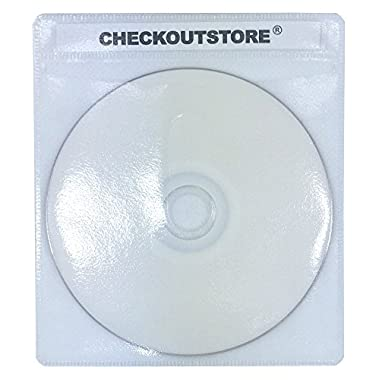 CheckOutStore (500) Premium CD Double-Sided Storage Plastic Sleeve (White)