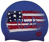 ARENA Silicona Print 2 Gorro De Natación, Hombre, Multicolor (Flag/USA), Uni