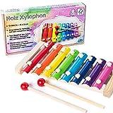 all Kids United Holz Xylophon für Kinder - Xylofon Musikinstrument Glockenspiel Klangspiel; FSC-zertifziert -
